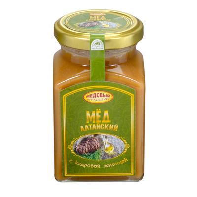 Мед Медовый край с кедровой живицей 330 г