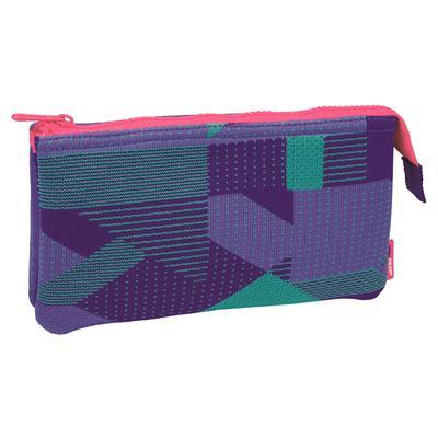 Пенал трехсекционный Milan Knit фиолетовый