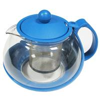 Чайник заварочный Irit стеклянный/пластиковый синий 750 мл (артикул производителя KTZ-075-002)