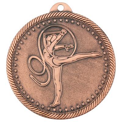 Медаль призовая 3 место Художественная гимнастика 50 мм