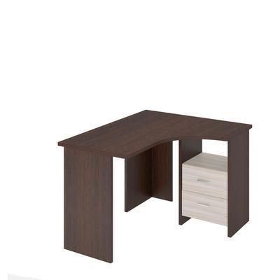 Стол компьютерный MRD СКЛ-Угл120 правый с тумбой  (венге/карамель, 1000х1200х770 мм)