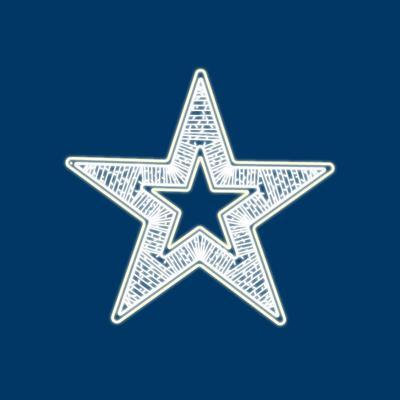 Фигура светодиодная Neon-Night Звезда белый свет 80 светодиодов 80 см