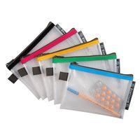 Папка-конверт Exacompta на молнии 120x165 мм в ассортименте 3 мм