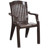 Кресло пластиковое Премиум №7 коричневое