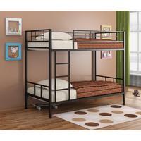 Кровать 2-ярусная Севилья 2 черная (1980х960х1620 мм)