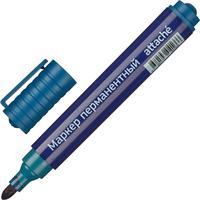 Маркер перманентный  полулаковый  Attache Economy синий (толщина линии 2-3 мм) круглый наконечник