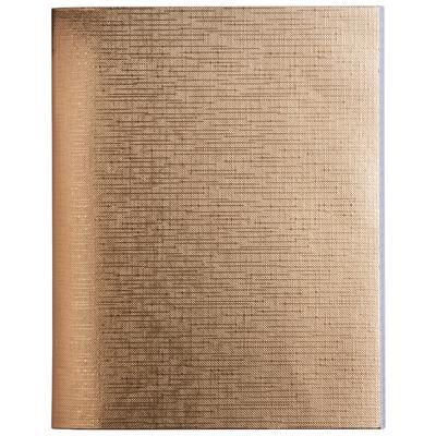 Бизнес-тетрадь Hatber Metallic А5 48 листов золотистая в клетку на скрепке (148x210 мм)