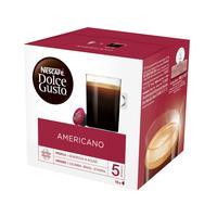 Кофе в капсулах для кофемашин Nescafe Dolce Gusto Americano (16 штук в упаковке)