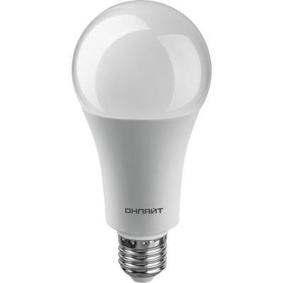 Лампа светодиодная Онлайт 30 Вт Е27 грушевидная 4000 К холодный белый свет