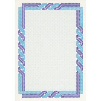 Сертификат-бумага Decadry голубая рамка (А4, 115 г/кв.м, 25 листов в упаковке)