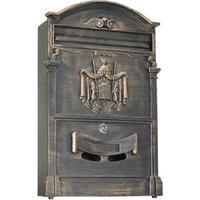 Ящик почтовый LB 1-секционный металлический бронзовый (256 x 87 x 405 мм)