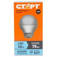 Лампа светодиодная Старт ECO 10 Вт E27 грушевидная 4000 К нейтральный белый свет
