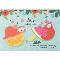 Альбом для рисования Проф-пресс Ленивцы на фруктах А4 12 листов
