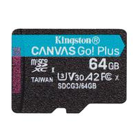 Карта памяти 64 ГБ microSDXC Kingston Canvas Go! Plus Class 10 UHS-I (SDCG3/64GBSP)
