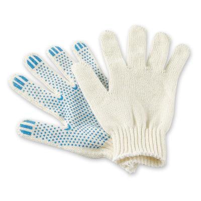 Перчатки рабочие трикотажные Эконом с ПВХ-Точка 2 нити 7 класс 28 г