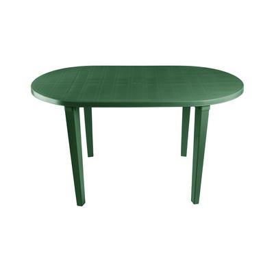 Стол пластиковый овальный темно-зеленый (1400х800х710)