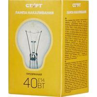 Лампа накаливания Старт 40 Вт E14 шаровидная прозрачная 2750 К теплый белый свет