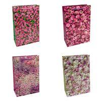 Пакет подарочный бумажный Omg-gift Цветы (30х20х10 см, 20 штук в упаковке)
