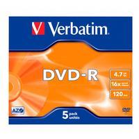Диск DVD-R Verbatim Azo Matt Silver 43519