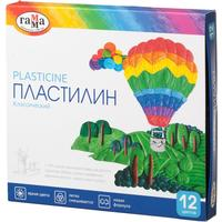 Пластилин классический Гамма Классический 12 цветов со стеком 240 г