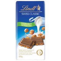 Шоколад Lindt молочный с цельным фундуком 100 г