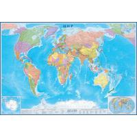 Большая настенная политическая карта мира 1:15 млн