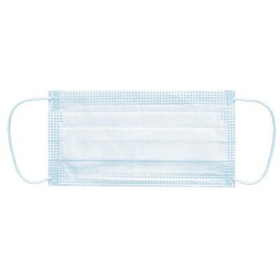 Маска медицинская Rutex одноразовая 3х-слойная голубая на резинке (50 штук в упаковке)
