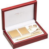 Набор подарочный Verdie (ручка, визитница, зажим для галстука, запонки)