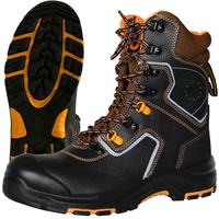 Ботинки с высокими берцами Perfect Protection натуральная кожа черные размер 38