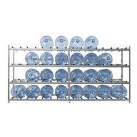 Стеллаж для бутилированной воды Бомис-32 на 32 тары по 19л металлик
