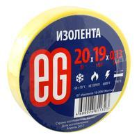 Изолента EG ПВХ 19 мм x 20 м желтая