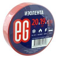 Изолента EG ПВХ 19 мм x 20 м красная
