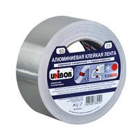 Клейкая лента алюминиевая Unibob серая 50 мм x 25 м толщина 70 мкм
