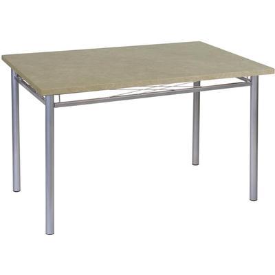 Стол обеденный Декор-4 (прямоугольный, каркас серебристый, столешница мрамор валенсия)