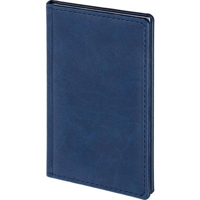 Еженедельник датированный 2021 год Attache Сиам искусственная кожа 64 листа синий (90x160 мм)