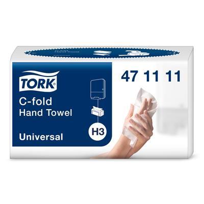 Полотенца бумажные листовые Tork Universal Н3 С-сложения 2-слойные 120 листов (артикул производителя 471111)