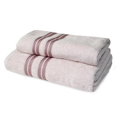 Набор полотенец махровых Лиман 50x90 см 1 штука 70x140 см 1 штука 360 г/кв.м бежевые