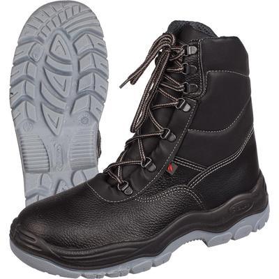 Ботинки с высокими берцами Lider ПУ-ТПУ утепленные черные размер 47