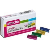Скобы для степлера №10 Attache цветные (1000 штук в упаковке)