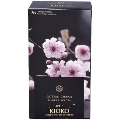 Чай Kioko Gottan Charm черный с ароматом японской сакуры 25 пакетиков