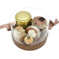 Подарочный набор Peroni-honey Dark Gold Grand (грецкий орех 30 мл, кофе, чай, шоколад 250 мл, эко-свеча)