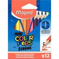 Карандаши цветные Maped Color'peps mini strong 12 цветов трехгранные