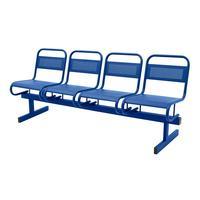 Многоместная секция Раунд СМ119-04 перфорированная синяя (4 места, металл)