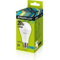 Лампа светодиодная Ergolux 20 Вт Е27 грушевидная 4500 К холодный белый свет