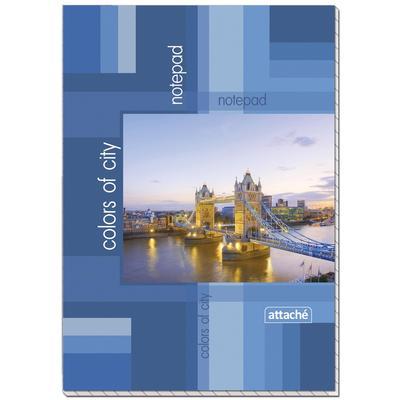 Блокнот Attache Пейзаж А6 60 листов разноцветный в клетку на склейке (101х145 мм)