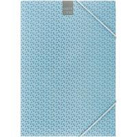 Папка на резинке Attache A4 30 мм картонная до 300 листов синяя (плотность 270 г/кв.м)