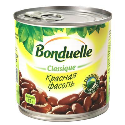 Фасоль Бондюэль консервированная красная 400 г