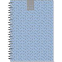 Бизнес-тетрадь Attache Fleur Лазурь  A5 96 листов разноцветная в точку на спирали (145x203 мм)