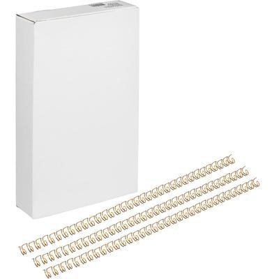 Пружины для переплета металлические Promega office 14.3 мм золотистые (100 штук в упаковке)