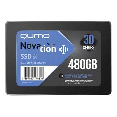 SSD накопитель Qumo Novation 3D 480 ГБ (Q3DT-480GPGNOEM)